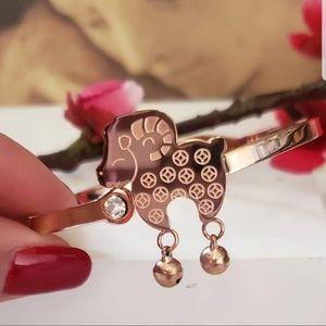 Rose Gold Sheep Zodiac Bangle Bracelet